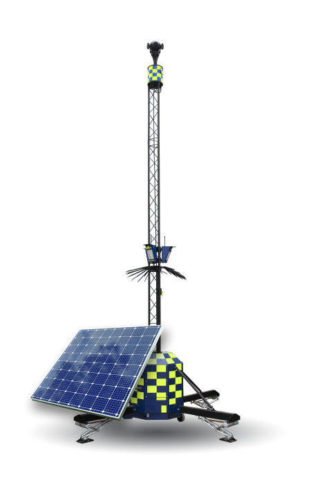 Solar CCTV Tower